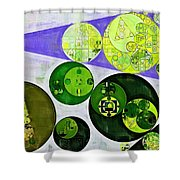 Abstract Painting - June Bud Shower Curtain