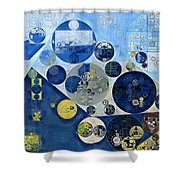 Abstract Painting - Kashmir Blue Shower Curtain