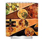 Abstract Painting - Light Brown Shower Curtain
