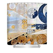 Abstract Painting - Light Gray Shower Curtain