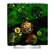 Abstract Painting - Lincoln Green Shower Curtain