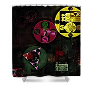 Abstract Painting - Metallic Gold Shower Curtain