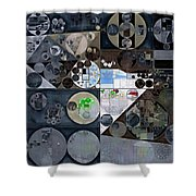 Abstract Painting - Mid Grey Shower Curtain