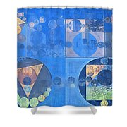 Abstract Painting - Mist Grey Shower Curtain