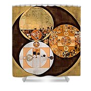 Abstract Painting - New Tan Shower Curtain