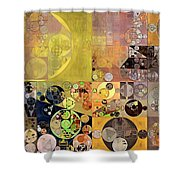 Abstract Painting - Pale Brown Shower Curtain