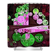 Abstract Painting - Pale Plum Shower Curtain