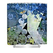 Abstract Painting - Paris White Shower Curtain