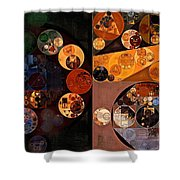 Abstract Painting - Persian Orange Shower Curtain