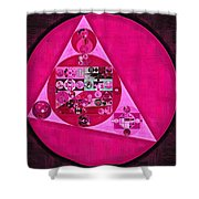 Abstract Painting - Persian Pink Shower Curtain