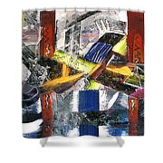 Abstract Painting Shower Curtain by Robert Thalmeier