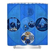 Abstract Painting - Sapphire Shower Curtain