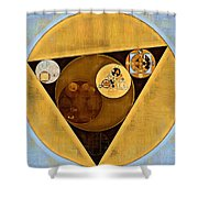 Abstract Painting - Satin Sheen Gold Shower Curtain