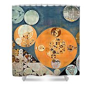 Abstract Painting - Shuttle Grey Shower Curtain