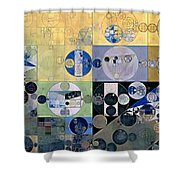 Abstract Painting - Sisal Shower Curtain