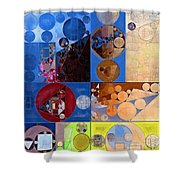Abstract Painting - Torea Bay Shower Curtain