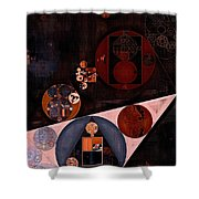 Abstract Painting - Very Dark Brown Shower Curtain