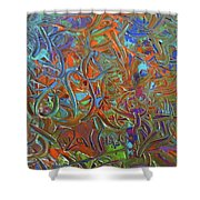 Abstract Pallet Oil Color Shower Curtain