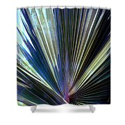 Abstract Palm Leaf Shower Curtain