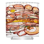 Abstract Pen Drawing Eight Shower Curtain