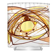 Abstract Pen Drawing Eleven Shower Curtain