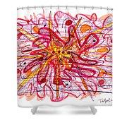 Abstract Pen Drawing Fifteen Shower Curtain
