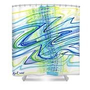Abstract Pen Drawing Forty Shower Curtain