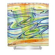 Abstract Pen Drawing Forty-one Shower Curtain