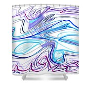 Abstract Pen Drawing Forty-two Shower Curtain