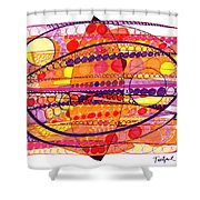 Abstract Pen Drawing Fourteen Shower Curtain