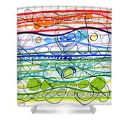 Abstract Pen Drawing Sixteen Shower Curtain