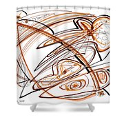 Abstract Pen Drawing Ten Shower Curtain
