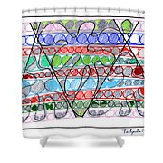 Abstract Pen Drawing Thirteen Shower Curtain