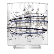 Abstract Pen Drawing Thirty-four Shower Curtain