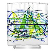 Abstract Pen Drawing Thirty Shower Curtain