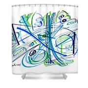 Abstract Pen Drawing Thirty-three Shower Curtain