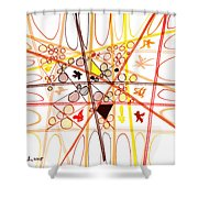 Abstract Pen Drawing Three Shower Curtain