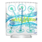 Abstract Pen Drawing Twenty-five Shower Curtain