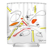 Abstract Pen Drawing Twenty-four Shower Curtain