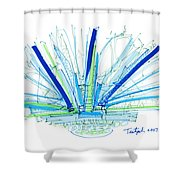 Abstract Pen Drawing Twenty-nine Shower Curtain