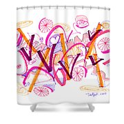 Abstract Pen Drawing Twenty-six Shower Curtain