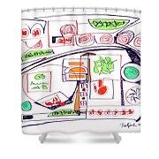 Abstract Pen Drawing Twenty-three Shower Curtain