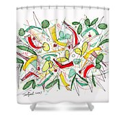 Abstract Pen Drawing Twenty-two Shower Curtain