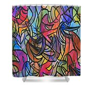 Abstract Pen Shower Curtain