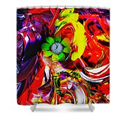 Abstract Perfection - Good Luck-holding It Firmly Shower Curtain