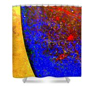 Abstract Photo Blue Yellow Shower Curtain