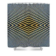 Abstract Photomontage Mid Continental Plaza N132p1 Dsc5528 Shower Curtain