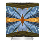 Abstract Photomontage N131v1 Dsc0965  Shower Curtain