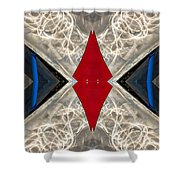 Abstract Photomontage N41p4f175 Dsc7221 Shower Curtain