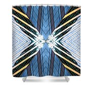 Abstract Photomontage N87v1 Dsc9063 Shower Curtain